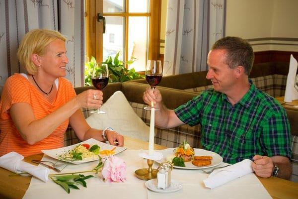 Kulinarium im Wanderhotel Hüttenwirt